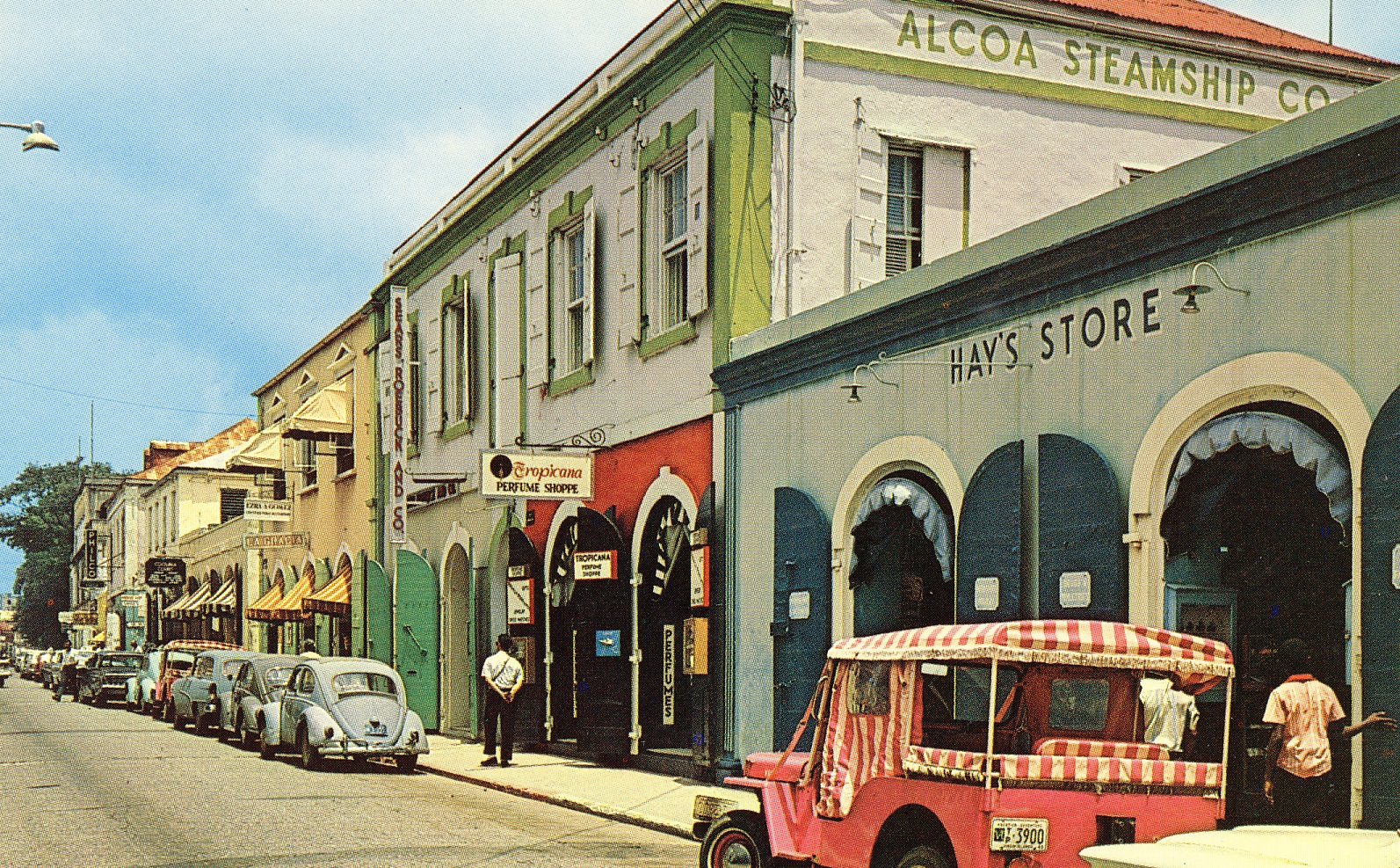 Dronningsgade i Charlotte Amalie 1965. Museet for Søfart