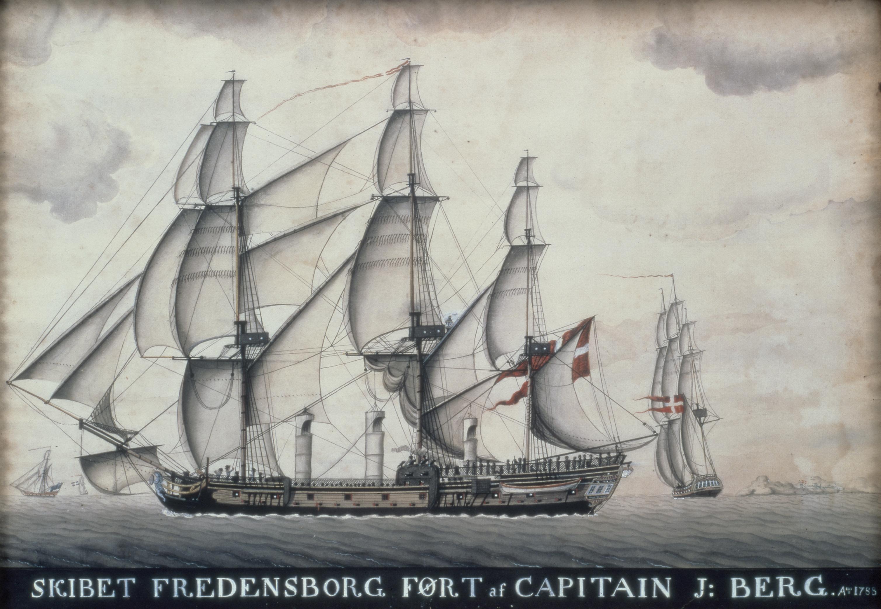 Slaveskibet Fredensborg 1788. Museet for Søfart